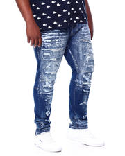 SMOKE RISE - Distressed Denim Jeans (B&T)-2463991