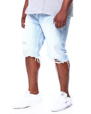 Big & Tall Faves - Distressed Denim Cut Off Shorts (B&T)-2463231