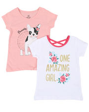 Girls - 2 Pack Short Sleeve Tees (4-6X)-2461652
