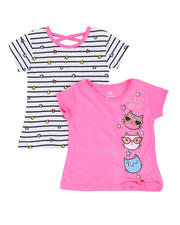 Girls - 2 Pack Short Sleeve Tees (2T-4T)-2461660