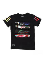 Sizes 4-7x - Kids - Razor Slashed Tee W/ Gradient Print (4-7)-2464203