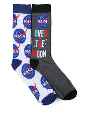 Accessories - NASA Over The Moon 2 Pair Crew Socks-2464744