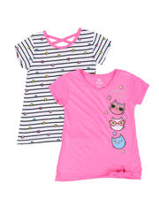 Girls - 2 Pack Short Sleeve Tees (4-6X)-2461664