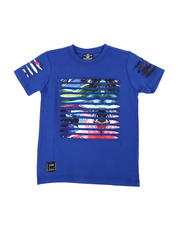 Sizes 4-7x - Kids - Razor Slashed Tee W/ Gradient Print (4-7)-2464198