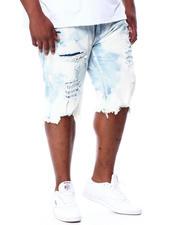 Shorts - Distressed & Bleached Denim Cut Off Shorts (B&T)-2463807