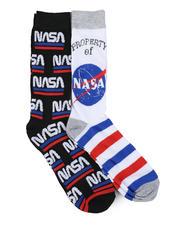 DRJ SOCK SHOP - Property Of NASA 2 Pair Crew Socks-2464746
