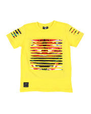Sizes 4-7x - Kids - Razor Slashed Tee W/ Gradient Print (4-7)-2464177