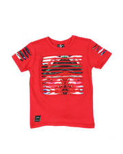 Sizes 4-7x - Kids - Razor Slashed Tee W/ Gradient Print (4-7)-2464187