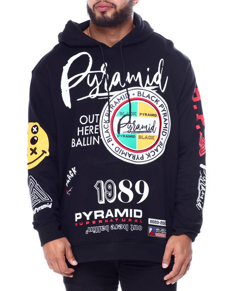 Black Pyramid - World Famous Logos Hoody (B&T)