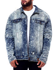 Outerwear - Biker Jacket With Bleach Spots (B&T)-2465667