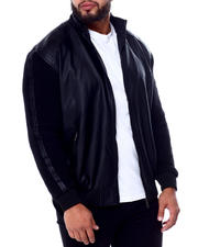Men - Faux Leather W/Knit Sleeve (B&T)-2420910