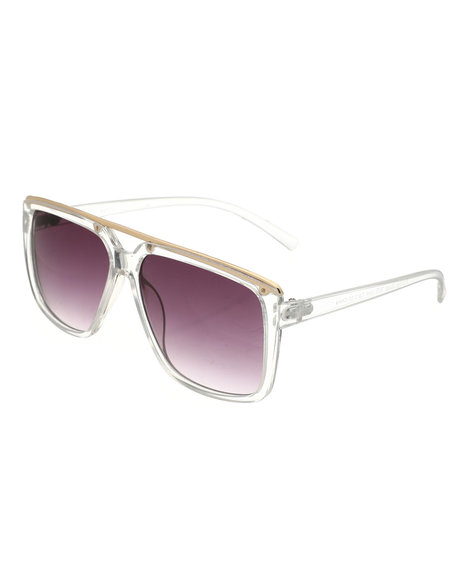 Buyers Picks - Clear Frame Gradient Square Sunglasses