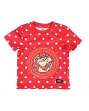 Sizes 2T-4T - Toddler - Taz front and back Polka Dot Tee ( 2T-4T)-2465205