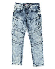 Bottoms - Cut & Sew Embossed Washed Stretch Jeans (8-18)-2465104