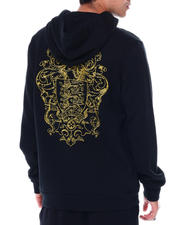EMBROIDERED PULL OVER HOODIE