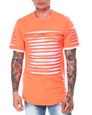SWITCH - Razor Slashed Tee w Zipper Trim Detail-2465862