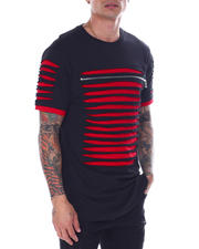 SWITCH - Razor Slashed Tee w Zipper Trim Detail-2465845