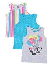 Girls - 3 Pack Tanks (4-6X)-2465505