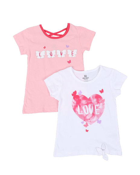 La Galleria - 2 Pack Short Sleeve Tees (4-6X)