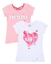 Girls - 2 Pack Short Sleeve Tees (7-16)-2461644