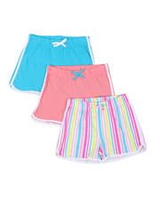 Girls - 3 Pack Shorts (7-16)-2465221
