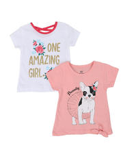 Girls - 2 Pack Short Sleeve Tees (2T-4T)-2461648