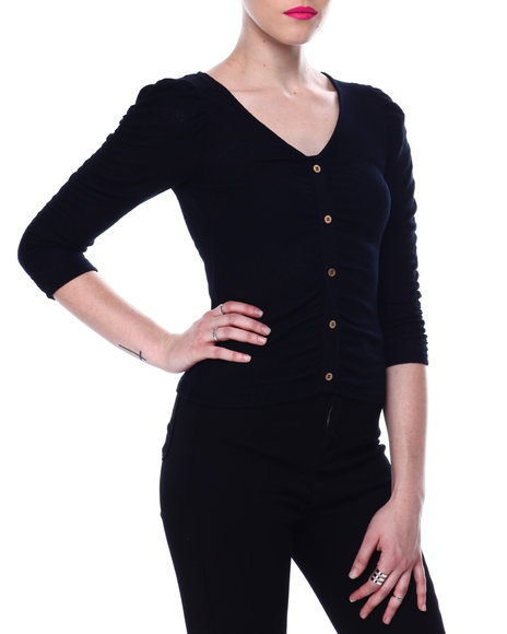 Almost Famous - Ruched Cardigan