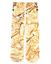 DRJ SOCK SHOP - Gold Foil Socks-2465573