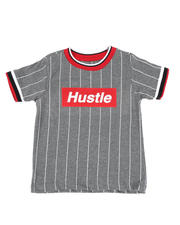 Sizes 4-7x - Kids - Pinstripe Ringer T-Shirt W/ Hustle Box Logo (4-7)-2466283