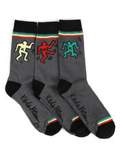 DRJ SOCK SHOP - 3 Pack Crew Socks-2466832