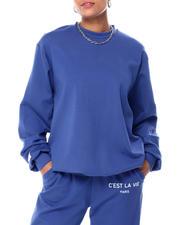Sweatshirts - C'ESTE LA VIE PARIS FRENCH TERRY OVERSIZED PULLOVER-2466198