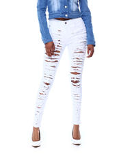 Women - SLIT DESTRUCTED BACK & FRONT HIGH WAIST JEAN-2466347