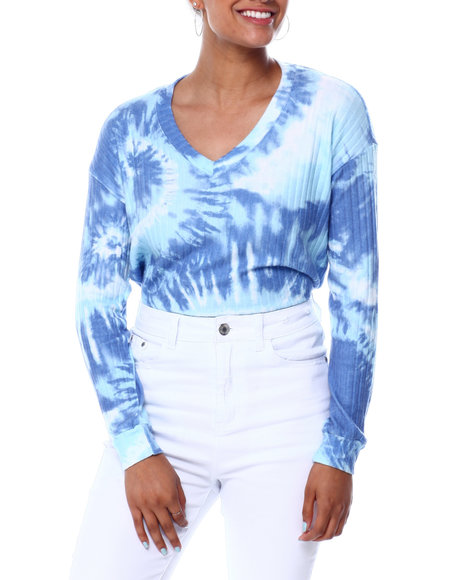 Almost Famous - Tie Dye L/S Vnk Hacci Pullover