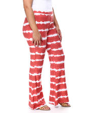 Plus Size - Brushed Jersey Tie Dye Flare Pant(Plus)-2462228