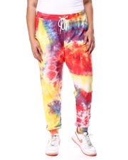 Plus Size - Tie Dye Butter Knit Jogger Smocked Waistband & Cuffs(Plus)-2462322