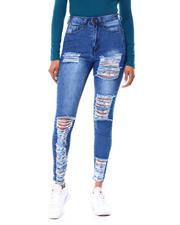 Jeans - High Waist Ripped & Raw Edge Skinny Jean-2466072