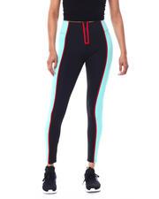 Leggings - EXPOSED ZIPPER COLOR BLOCK ACTIVE LEGGING-2466101