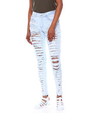 Jeans - SLIT DESTRUCTED BACK & FRONT HIGH WAIST JEAN-2466220