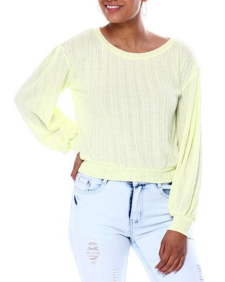 Almost Famous - Pullover W/Blouson Sleeves