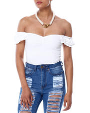 Almost Famous - Shirred Wide Strap Crop W/Cinched Frt-2466607