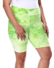 Bottoms - Tie Dye Butter Knit High Rise Bike Short(Plus)-2462261