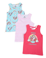 Girls - 3 Pack Tanks (4-6X)-2465433