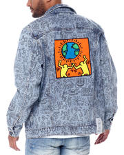 Mens-Winter - DMND X KEITH HARING UNITY DENIM JACKET-2467697