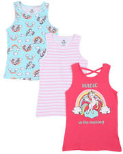 Girls - 3 Pack Tanks (7-16)-2465437