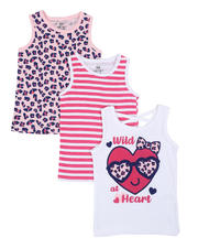 Girls - 3 Pack Tanks (4-6X)-2465448