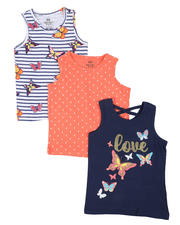 Girls - 3 Pack Tanks (4-6X)-2465489