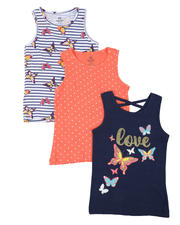 Girls - 3 Pack Tanks (7-16)-2465497