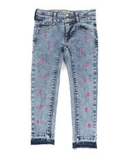 Girls - Heart Stud Double Waist Jeans (4-6X)-2466860