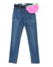 Jeans - Skinny Jeans W/Belt Fanny Pack (7-16)-2466866