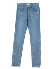 Girls - Neon Stud Skinny Jeans (7-16)-2467066